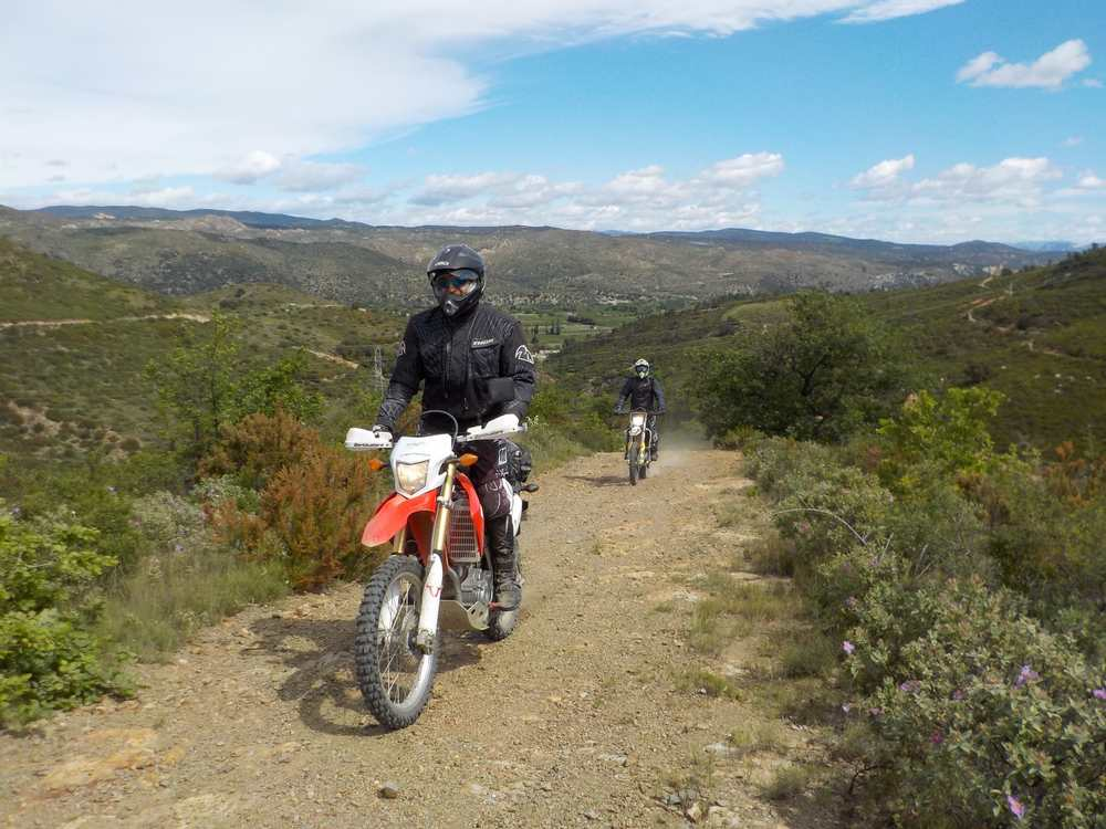 Balade moto Cadaqués fin avril