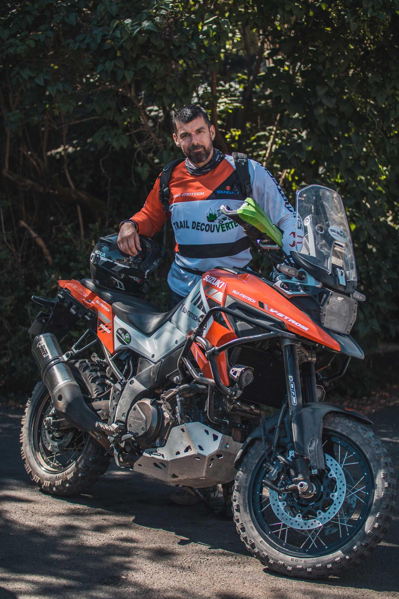 greg organisateur de randonnées en moto trail